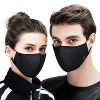 Wholesale anti dust fabric resale online - Cotton Black mouth face Mask Anti PM2 dust Activated Carbon Filter Mask Fabric Face Mask