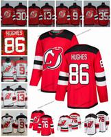 camisa de hóquei brodeur venda por atacado-2019 Jack Hughes Nova Jersey Devils Camisolas de Hóquei 86 Jack Hughes 76 PK Subpano 9 Taylor Hall 35 Schneider 13 Nico Hischier 30 Martin Brodeur