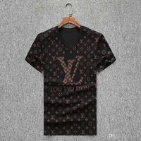 ingrosso maglia con medusa-Estate calda design magliette per stampa maglietta Lettera Uomini Mens abbigliamento di marca del breve manicotto della maglietta Donna T-Shirts medusa di alta qualità