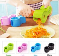 Wholesale multifunctional shredder resale online - Multifunctional Sharpener Shredder Colors Spirality Double headed Grater Vegetable Spiral Peeler Cutter Kitchen Gadgets Tools OOA6918