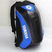 Wholesale shell computers online - New Carbon fiber Hard shell backpacks for Yamaha Knight Backpack Waterproof Motorcycle backpack computer bag