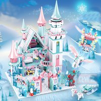 Wholesale toy castle sets for sale - Group buy 1314pcs Snow World Series Magical Ice Castle Set Girls Building Blocks Compatible Bricks Toys Girl Friend Christmas Gifts