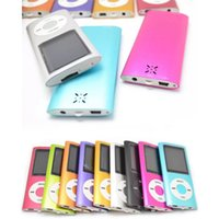 Wholesale recorder screen resale online - 50X Player Slim TH inch Screen th mp3 mp4 Player with card slot FM radio Voice Recorder colors USB Cables Earphones Retail Boxes DHL