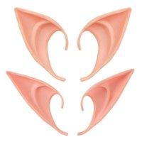 máscara de vampiro de látex venda por atacado-Orelha Elf Halloween Fada Cosplay Accessores Vampiro Máscara Do Partido Para O Látex Suave Orelha Falsa 10 cm E 12 cm LX7232