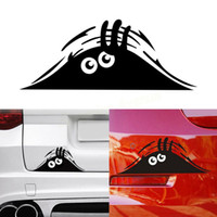 Wholesale car decorating accessories for sale - Group buy Black Car Styling Accessories Reflective Fashion Funny Peeking Monster Car Sticker Vinyl Decal Decorate Waterproof Stickers