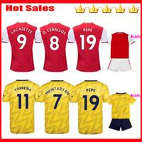 kit david al por mayor-TIERNEY 2019 2020 camisetas de fútbol 19 20 HENRY Local rojo visitante amarillo camiseta de fútbol kit para niños DAVID LUIZ Camiseta de fútbol maillot de foot
