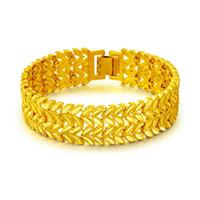 chaînes de poignet en or femme achat en gros de-Personnalité Charme Bracelets 18K Or Blé Poignet De Blé Lien Chaîne Bracelets Designer De Luxe Punk Bijoux Pour Hommes Femmes Cubain Bracelet Accessoires