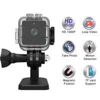 su geçirmez dijital video camcorder toptan satış-SQ12 HD 1080 P Mini Kamera Kablosuz Taşınabilir Kaydedici DVR Bisiklet Online Dijital Döngü Video Kamera Endoskopi Su Geçirmez Kamera DV ...