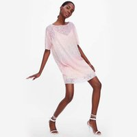tops für clubbing großhandel-Dropshop Woman Club Kleider 2019 Pailletten T-shirt Kleid Lose T-shirts Glitter Tops Frauen Mode Kleid Freies Verschiffen Z18