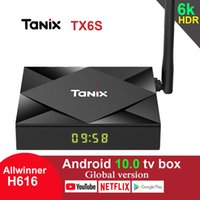 chip de caixa de tv android venda por atacado-TX6S Tanix Android top box 10,0 TV Box H616 Chip TX6 4GB 64GB inteligente TV Box Media Player dupla WiFi Bluetooth 8K TV Set