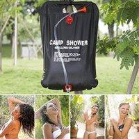 banho de água solares venda por atacado-20L acampamento Shower Water Bag Dobrável Solar Energy aquecida Duche Camping Saco de PVC para Camping Outdoor Caminhadas Viagem