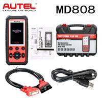 инструмент обслуживания epb оптовых-Autel MaxiDiag MD808 Code Reader Профессиональный сервисный сканер для двигателя / трансмиссии / SRS / ABS / EPB / сброса масла / DPF / SAS и BMS