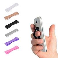 эластичный ремешок для телефона оптовых-Для Finger Phone Grip Резинка ремешок Универсальный держатель телефона для мобильных телефонов Планшеты против скольжения