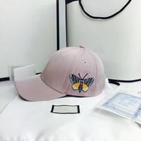 ingrosso cappelli a farfalla-Cappelli del progettista del cappello del berretto da baseball famosi del progettista di lusso del cappello delle donne 2019 nuovi cappelli di snapback di modo del berretto da baseball della farfalla Vendita calda del modello del ricamo