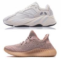 Wholesale online shoe shopping resale online - Shop v2 shoes Buy Kanye West V2 Lundmark Sneaker Cloud White Citrin Non Reflective Antlia Synth Black Static GID True Form DHgate Online