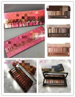 12 color eyeshadow palette venda por atacado-Maquiagem paleta da sombra paleta da pálpebra 12 cor NUDE 1.2.3.5.HEAT CEREJA decadência Maquiagem Paletas barra de chocolate