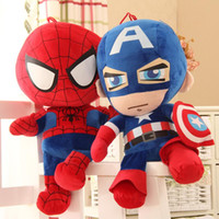 Wholesale spiderman toys doll for sale - Group buy 27 cm avengers plush dolls toy spiderman toys super heroes avengers Alliance marvel the avengers dolls Q version