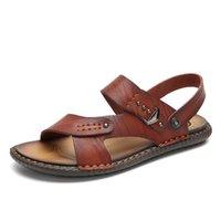 c3098c22b32676 Yeni Yaz İngiltere Stil Burnu açık Nefes Platformu Erkek Sandalet Deri  Gümrükleme Toka Askı Açık Plaj Ayakkabı Boyutu 38-44