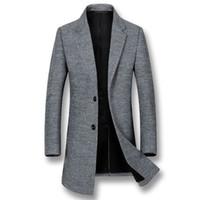 Wholesale men business parka resale online - iSurvivor New Winter Autumn Men Warm Wool Jackets Coats Parkas Male Smart Business Casual Fashion Nylon Jackets Hombre