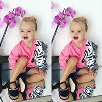 зебра для девочек оптовых-Zebra Tassels Hoodies Toddler Kids Baby Girls 3D Zebra Cotton Top Shirt Sweatshirt Clothes Children Girl Autumn Sweatshirt