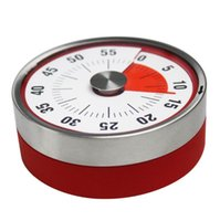 Wholesale magnetic countdown timer resale online - Baldr cm Mini Mechanical Countdown Kitchen Tool Stainless Steel Round Shape Cooking Time Clock Alarm Magnetic Timer Reminder LX6112