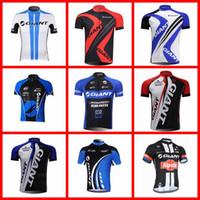 с длинным рукавом оптовых-GIANT команда Велоспорт с короткими рукавами трикотаж велосипед гоночный спортивная одежда велоспорт дышащая одежда лето Спортивная одежда 51516