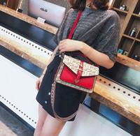 Wholesale womens handbag rivets online - Designer new L bags high quality female handbags high end designer L shoulder womens bag