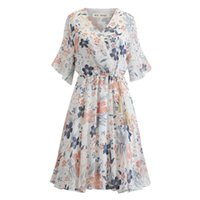 Wholesale casual pin up for sale - Group buy Women Retro Vintage Dress Printed Swing Pin Up Party Dresses Elegant Tunic Vestidos Casual Short Sleeve A Line Dress