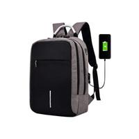 dizüstü bilgisayar çantaları toptan satış-Usb Şarj Ile Laptop Case Çanta Sırt Çantası Okul Notebook Çantası Erkek Kadın Oxford Su Geçirmez Sırt Çantası