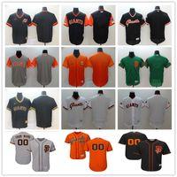 jérseis de basebol laranja preto venda por atacado-Personalizado 2019 New San Francisco Homens Mulheres Juventude Majestosa Giants Jersey Qualquer Seu nome e número Black Orange Baseball Jerseys