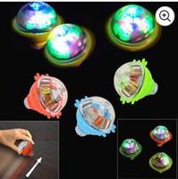 Dazzling Toys Light up Spinner Led Light Up Inertia Gyro Peg Top Rotating Flashing Kids Toys