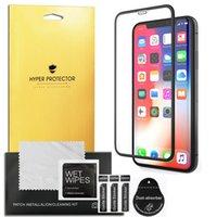 iphone plus ekran koruyucusu perakende paketi toptan satış-5D Tam Kapak Temperli Cam Ekran Koruyucu Için iPhone 6 6 S 7 8 Artı Perakende Paketi Ile X XS MAX XR