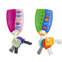 Wholesale electronic music toys online - Electronics Anti Theft Lock Model Key Simulation Toys Children Early Education Music Intelligence Colors Mix yl F1