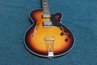 ingrosso chitarra jazz su misura professionale-Produttori personalizzati nuovi chitarra elettrica hollow jazz, accessori hardware oro, personalizzazione professionale