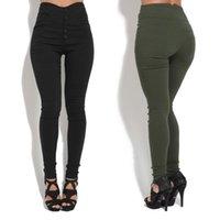 jeans mais sexy venda por atacado-novo jeans rasgado para as mulheres mais calças tamanho mulheres esticar calças lápis leggings calças jeans Botão sensuais leggings mulher