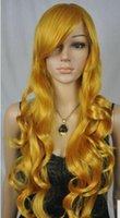 uzun doğal sarışın kıvırcık peruk toptan satış-ÜCRETSIZ SHIPPIN + + DY49 Bayanlar Uzun Katmanlı Patlama Kıvırcık Sarışın Doğal Saç Cosplay Parti Kostüm Peruk