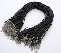 Wholesale brown leather necklace cord resale online - Best mm Jewelry Components Leather Necklace Black brown Real Leather Cord Lobster Clasp Fit Pendant