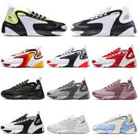 erkekler için daire toptan satış-Nike zoom 2k Ucuz Tekno Zoom 2 K Koşu Ayakkabı Tasarımcısı Lüks Erkek Kadın 2000 Siyah Beyaz Turuncu Donanma Düz Rahat Spor Sneakers Erkek Eğitmenler koşucu