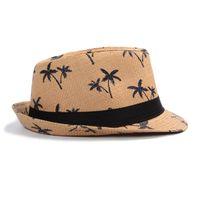 mode weben hut mann großhandel-Hot Fashion Jazz Strohhüte für Männer Frauen Woven Hats Breiter Krempe Hüte Caps Für Sommer Strandurlaub