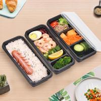 frischhaltedosen mikrowellenfest großhandel-Einweg Mikrowelle Kunststoff Frischhaltedose Sichere Mahlzeit Prep Container Für Home Kitchen Food Storage Box ZC0333