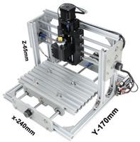 pcb cnc makinesi toptan satış-CNC 2417 DIY CNC Oyma Makinesi 3 eksen Mini Pcb Pvc Freze Makinesi Metal Ahşap Oyma Makinesi Cnc Router GRBL Kontrol LLFA