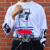 camiseta hip hop mans al por mayor-19SS Box X Luxury Desinger Tee High Street Fashion Algodón de manga corta Hip Hop Hombres y mujeres Pareja Verano Camisetas HFWPTX300