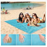 cobertores de praia à prova de água venda por atacado-Tapete de praia Ao Ar Livre Cobertor de Areia À Prova de Sujeira Poeira Desaparecer Tapete de Piquenique Secagem Rápida À Prova D 'Água Ultra Portátil Pad para Viagem Camping Caminhadas