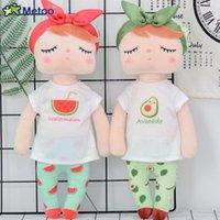 frisches zeug großhandel-Neue weiche Metoo Frucht Angela Puppe füllte Spielwaren-Plüsch-Wassermelone frische nette Kawaii Kind-Geschenk-Metoo Puppen für Mädchen an