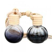 botellas espejadas al por mayor-Botella de perfume Botellas de vidrio vacías para aceites esenciales Difusor Ambientador Perfume Espejo retrovisor Colgante Fragancias GGA1522