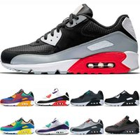 Wholesale 90 trainer resale online - In stock Sneakers men women Black Infrared Running shoes Classic Mixtape Grape Raptors Light Grey Trainer Womens Sports shoe size