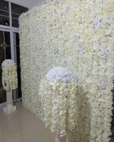 Wholesale flower back backdrops resale online - 60X40CM Hot Sale Artificial Peony Rose Flower Wall Wedding Background Flower Panels Window Decoration more colors Available
