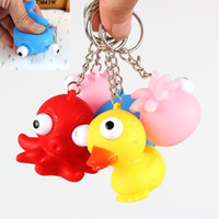 Wholesale keychain eye for sale - Group buy Cute Burst Eye Doll Key Chain Decompression Toys Funny Animal Shape Squeeze Keychain Toy Hot Sale