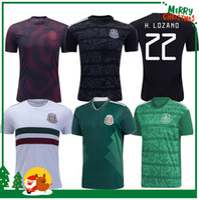 chicharito jersey mexico toptan satış-19 20 Meksika H. LOZANO DOS SANTOS CHICHARITO Futbol forması 2019 2020 Altın Kupa yetişkin erkek kadın çocuk erkek kiti spor futbol forması