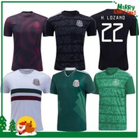 Wholesale men soccer jersey kits resale online - 19 Mexico H LOZANO DOS SANTOS CHICHARITO Soccer shirt Gold Cup adult man woman kids boy kit sports football jersey